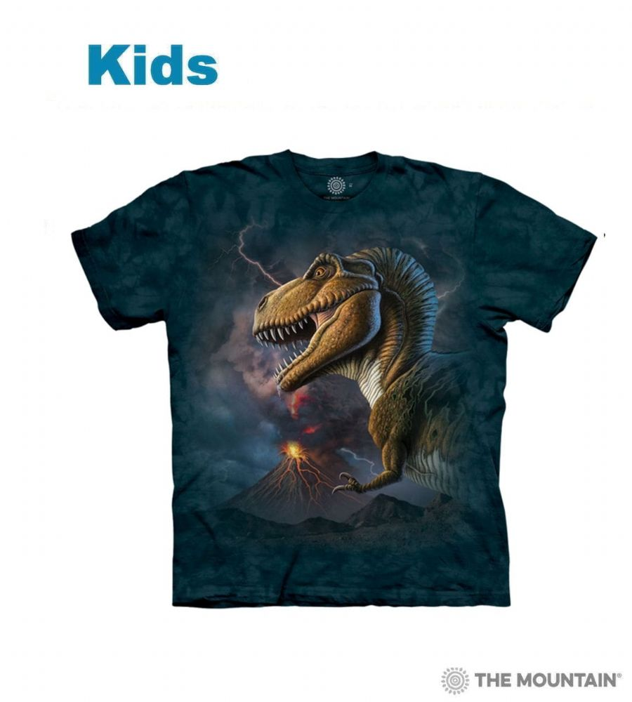 Kids Volcano Rex T-shirt | Children's Dinosaur T-shirts | The Mountain® UK